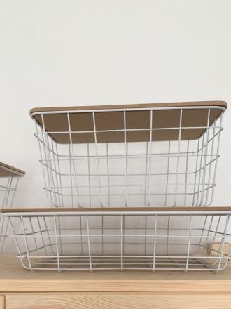 Basket - Metallinen weiß - Luhta