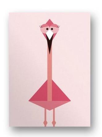 Postkarte Flamingo - von FräuleinEA