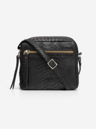 Cubo Mini Shoulder Bag Snake Black