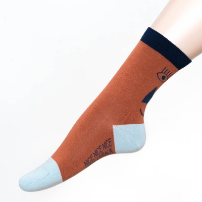 friendly socks back face red NICE