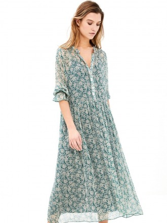 lolo dress garden - evergreen -