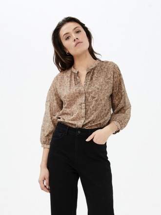 cecile blouse dessert dark nude by-bar