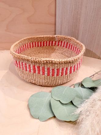 Bread Basket F30 Rot FAIR TRADE