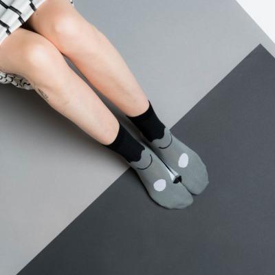 Friendly socks big face black NICE