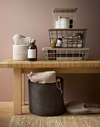 Basket flach Metallinen schwarz Luhta Home