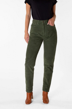 Nora Loose Tapered Corduroy Leaf Green