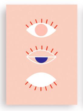 Postkarte Evil eye rosé la maison