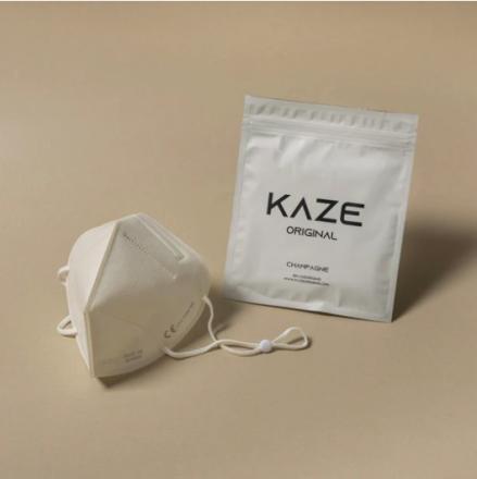 KAZE FFP2 Maske Champagne 3-dimensional respirator
