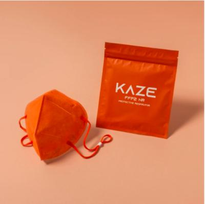 KAZE FFP2 Maske Citrus Orange 3-dimensional