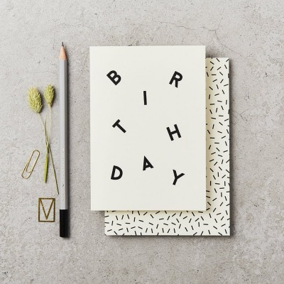 Klappkarte - BIRTHDAY SCATTER CARD -