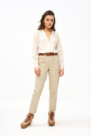 smiley twill pant - sand -