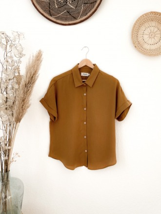 Givn Sarah Blouse Rubber Brown aus