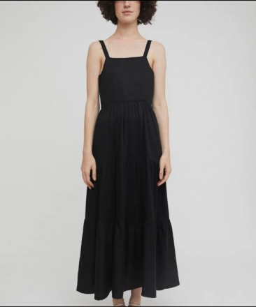 RITA ROW Leonora Dress Black Ethically