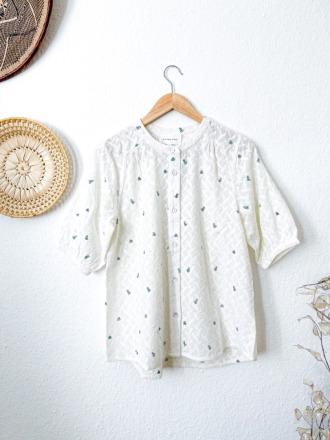 Maison Anje IDALINO Vert Bluse mit