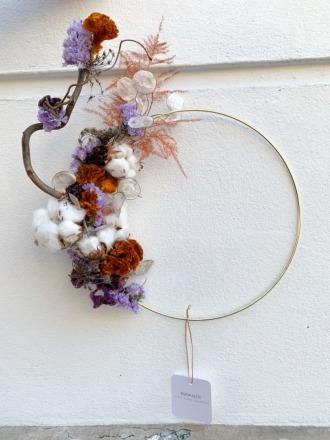 Ringdekoration mit Trockenblumen - Bärwaldt