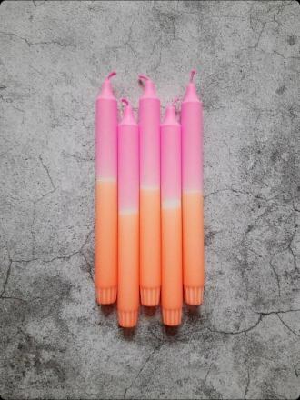 Kerze groß - Rosa-orange - B