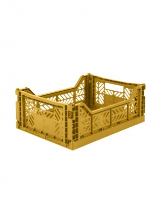 AyKasa Midi Storage Box Mustard Storage
