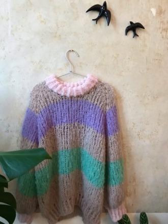 Handgestrickter Pullover S/M Molina del Rey