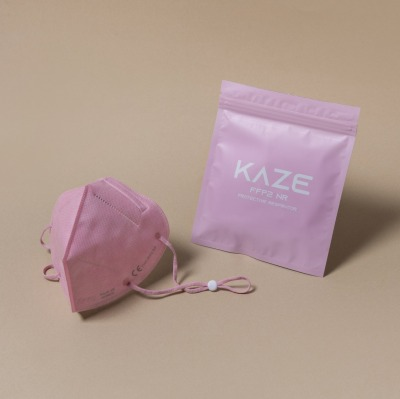KAZE FFP2 Maske Rose Quartz 3-dimensional