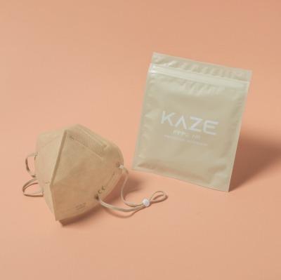 KAZE FFP2 Maske Sandy Beige 3-dimensional