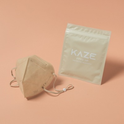 KAZE FFP2 Maske Light Blush 3-dimensional