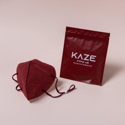 KAZE FFP2 Maske Maroon 3-dimensional respirator