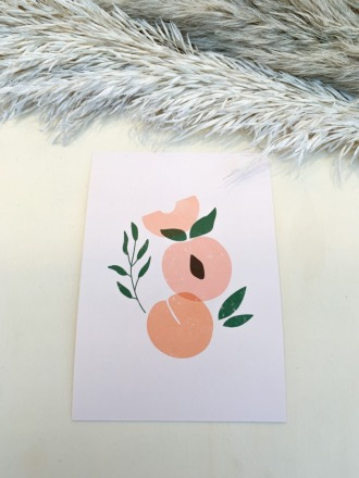 Postkarte - Peach - la maison