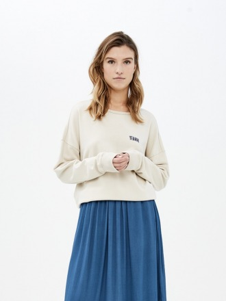 becky sweater at - linen -