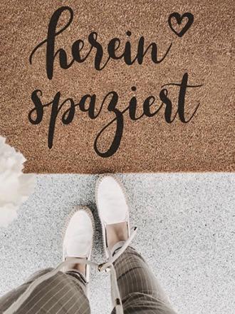 Indoor Fußmatte herein spaziert -