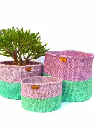 Storage Basket Lila/grün FAIR TRADE AND