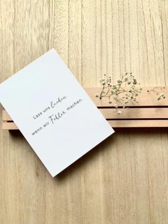 Eulenschnitt POSTKARTE Lass Uns Lachen Postkarte
