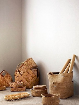 Klapi Wood Basket - Luhta Home