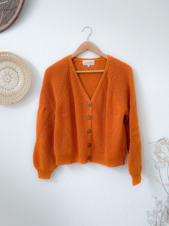 Maison Anje LERIS honey Strickjacke aus