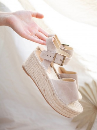 PLATFORM SANDALS Beige - by jutelaune