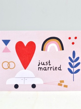 Postkarte - Just married - Rassmussons
