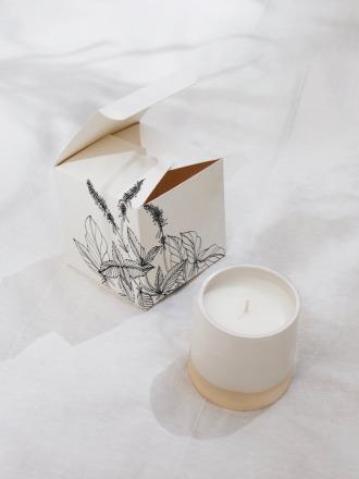 Marrakesh Ceramic Candle White Handmade in