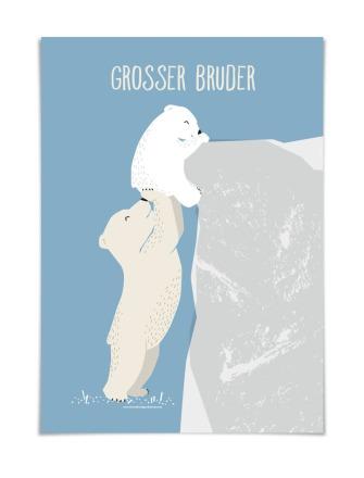 GROSSER BRUDER DIN A5 vierundfünfzig illustration