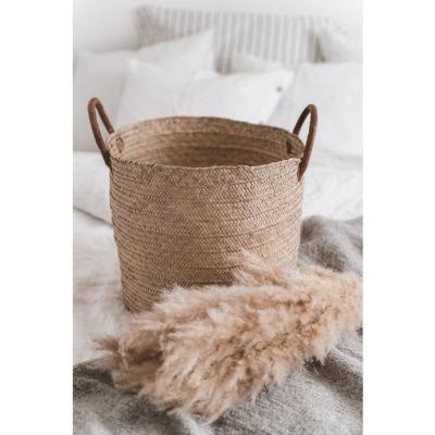 Solid Handgewebter Einkaufskorb aus Palmblättern Werte: