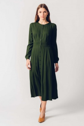 HAIZEA DRESS Green SKFK Ethical Fashion