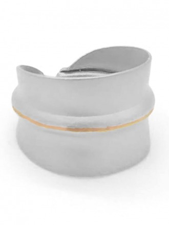 Ring rhodiniert matt - Sergio Engel
