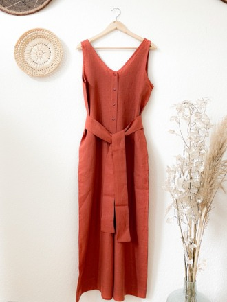 BEAUMONT ORGANIC GIANNA-CLAY JUMPSUIT BEAUMONT ORGANIC