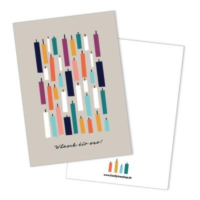 Postkarte - Wünsch Dir was -