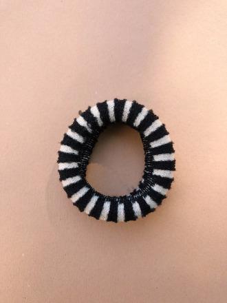 Haargummi Stripes- Black/White - Hello Love