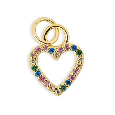 Hello Love Anhänger rainbow Heart 925er