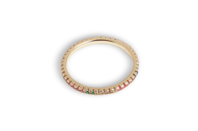 Hello Love Ring Lilly Rainbow 18k