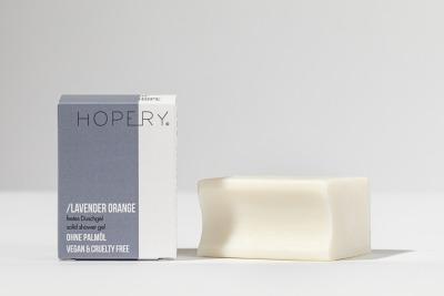 Hopery Festes Duschgel ohne plastikverpackung LAVENDER