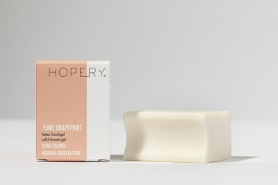 Hopery Festes Duschgel ohne plastikverpackung LIME