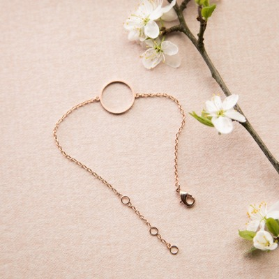 Zartes Armband Kreis rosé Ring rund