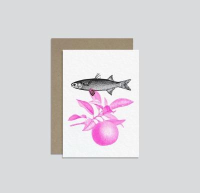 HungryPaper - Klappkarte - Fisch/Orange -