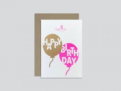 HungryPaper Klappkarte Happy Birthday Luftballon HungryPaper